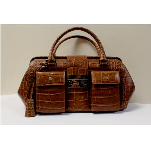 Escada- Crocodile Embossed- Women Bag- Matiell Consignment Boutique 4ed57595878fb